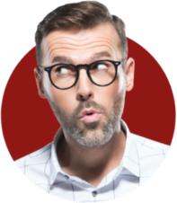 Male teacher noticing Vivido logo